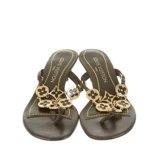 Louis Vuitton Thong Sandal Kitten Heel
